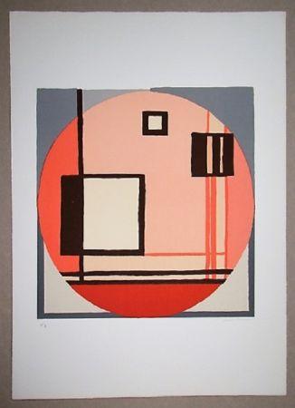 Литография Radice - Compositione astratta rosa