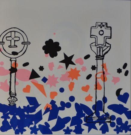 Литография Baj - Composizione