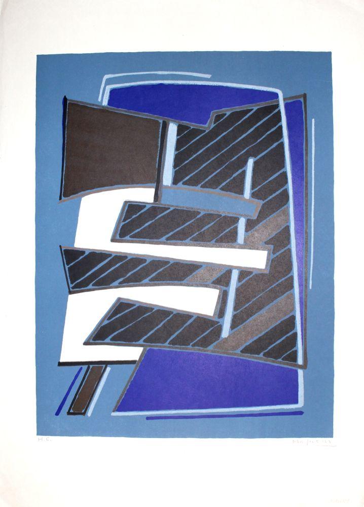 Литография Magnelli - Composizione in Azzurro