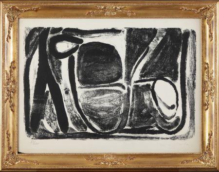 Литография Van Velde - Composizione in bianco e nero