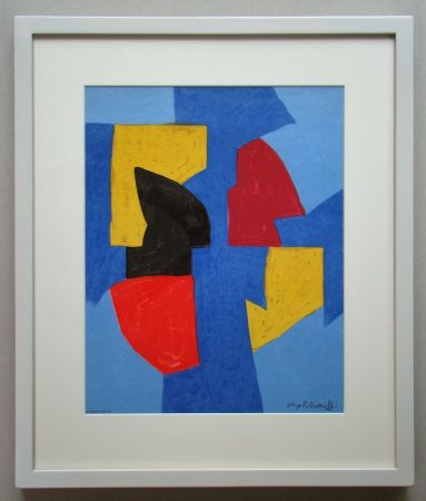 Литография Poliakoff - Compsition bleue, rouge et jaune