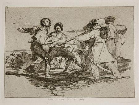 Гравюра Goya - Con razón o sin ella