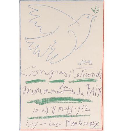 Литография Picasso -  Congrès National du Mouvement de la Paix (10 et 11 mai 1962)