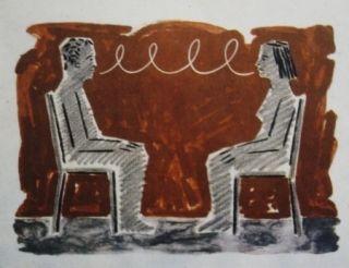 Литография Llimos - Conversa