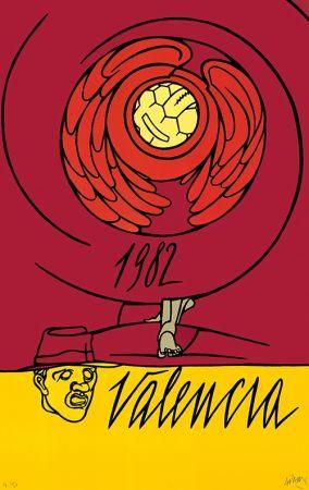 Литография Adami - Copa del Mundo de Fútbol España 1982 - Valencia