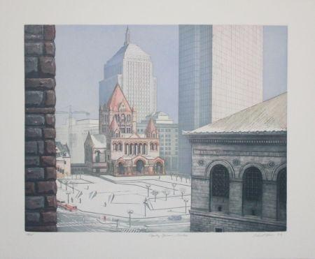 Офорт И Аквитанта Haas - Copley Square, Boston