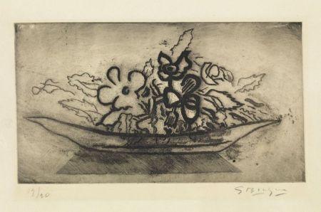 Акватинта Braque - Corbeille de fleurs