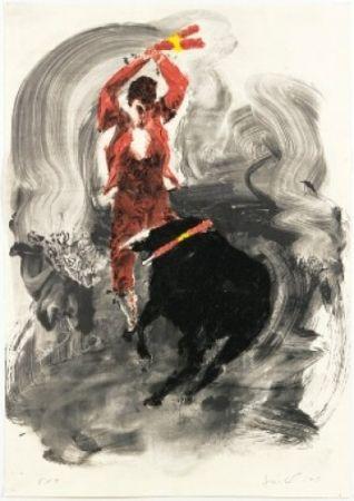 Литография Fischl - Corrida