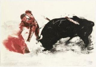 Литография Fischl - Corrida 3