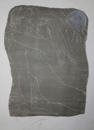 Литография Trémois - COUPLE ENLACE / INTERTWINED COUPLE - Lithographie Original / Original Lithograph