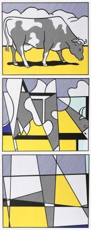 Гашение Lichtenstein - Cow Going Abstract