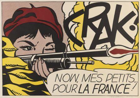 Литография Lichtenstein - Crak! (Corlett Ii.2.)