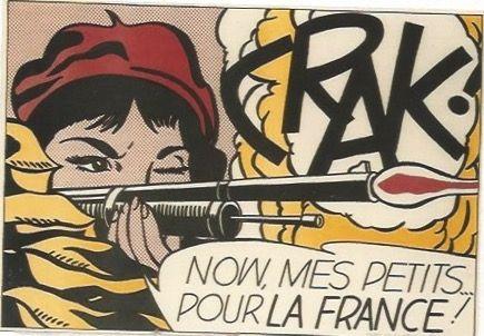 Литография Lichtenstein - CRAK! Now mes Petits ... pour la France!