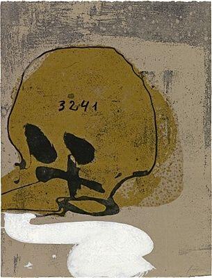 Офорт И Аквитанта Tàpies - Crani amb xifres