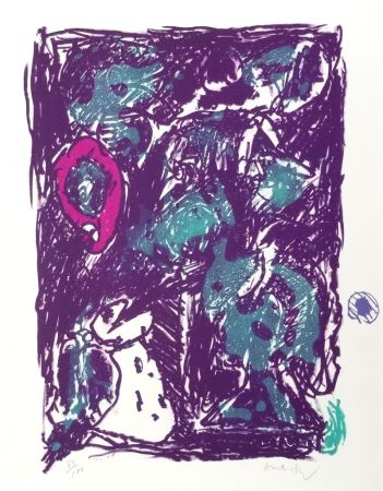 Литография Alechinsky - Crayon Sur Coquille - Le Rare Heureux