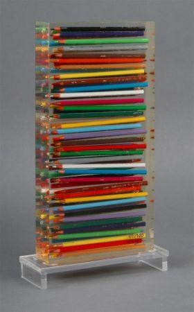 Многоэкземплярное Произведение Arman - Crayons Couleurs Accumulation