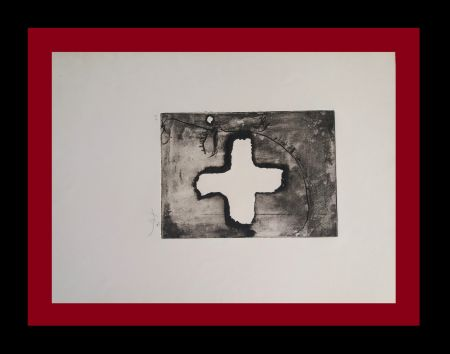 Гравюра Tàpies - Creu sobre cap