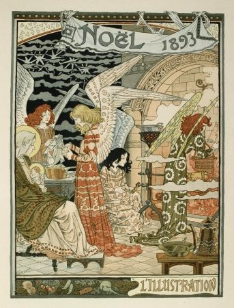 Литография Grasset - Cuisine des anges / Angels' Kitchen
