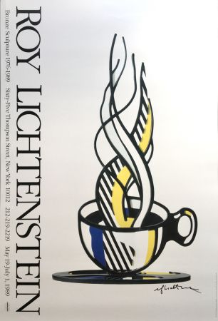 Нет Никаких Технических Lichtenstein - Cup and Saucer II (Hand Signed)