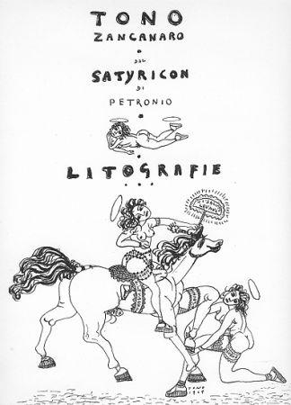 Литография Zancanaro - Dal Satiricon di Petronio