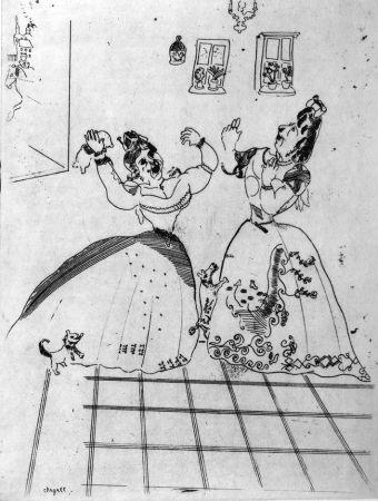 Офорт Chagall - Dames Charmantes Et Charmantes À Tous Égards