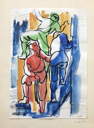 Нет Никаких Технических Anonyme - Dans le goût de F. LEGER.  Les Ouvriers (1940)
