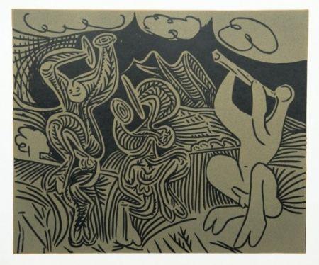 Гравюра Picasso - Danseurs et Musicien
