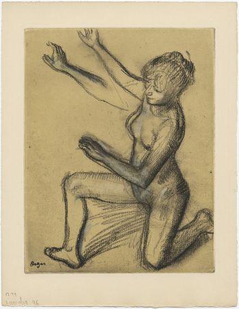 Офорт И Аквитанта Degas - Danseuse : étude de nu et mouvements (vers 1896)