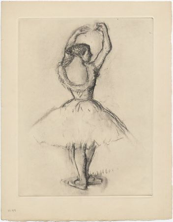 Офорт Degas - Danseuse (étude, vers 1878-1880)