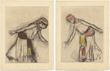 Офорт И Аквитанта Degas - Danseuse orientale : 2 études (vers 1890)
