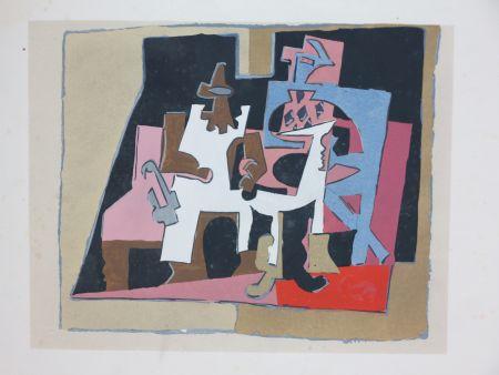 Трафарет Picasso - D'après Pablo Picasso (1881-1973). Intérieur. 1933. Pochoir sur papier.