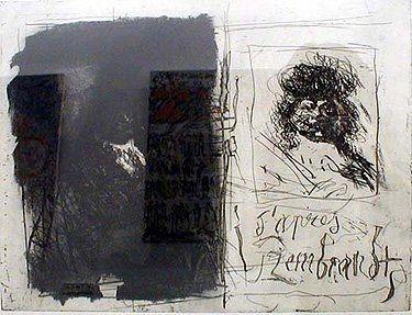 Офорт И Аквитанта Clavé - D'apres Rembrandt I-I