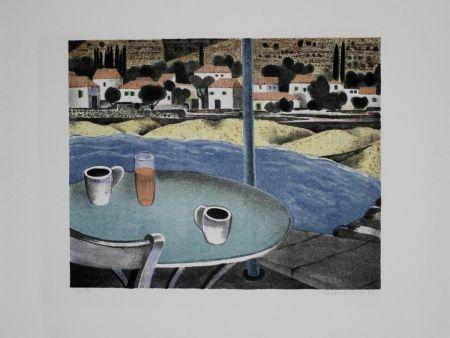 Литография Breiter - Das Café