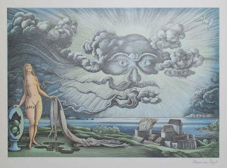 Литография Von Gugel - Das Wolkengesicht