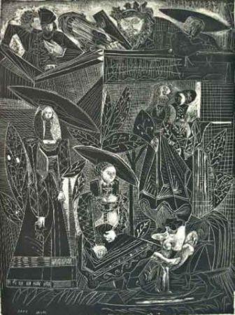 Литография Picasso - David et Bethasabéé