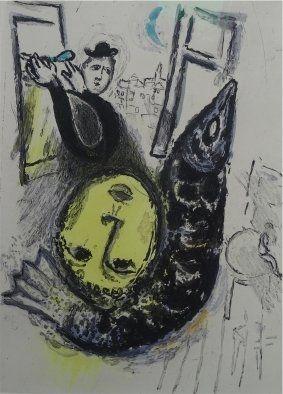 Офорт И Аквитанта Chagall - De Mauvais Sujets,plate nr.3