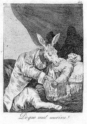 Офорт И Аквитанта Goya - De que mal morirà?