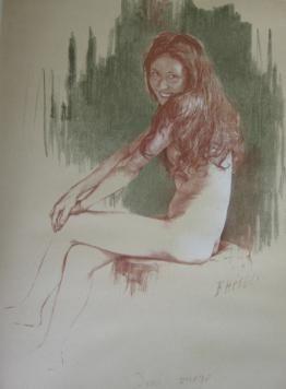 Литография Héroux - Demi-vierge