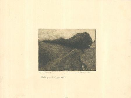 Гравюра Philipp - Der Feldweg