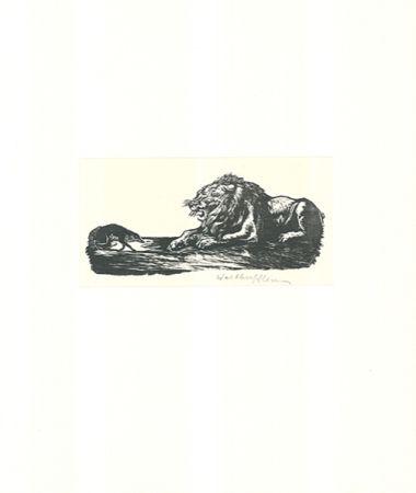 Гравюра На Дереве Klemm - Der Grosse und der Kleine