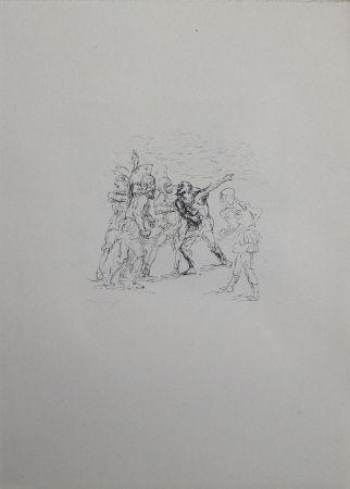 Литография Slevogt - Der verwundete Hellene