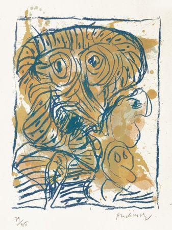 Литография Alechinsky - Derniers pas