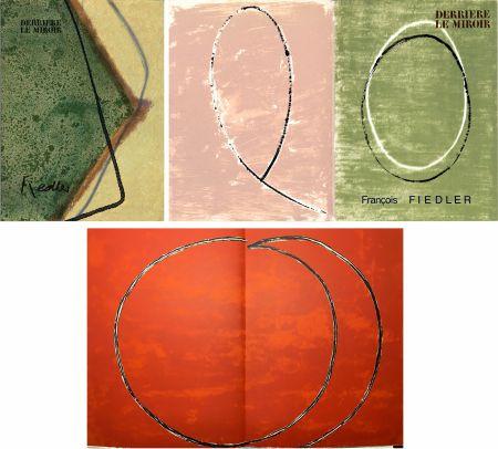 Иллюстрированная Книга Fiedler - DERRIÈRE LE MIROIR: COLLECTION COMPLÈTE des 4 volumes de la revue  consacrés François Fiedler: 26 LITHOGRAPHIES ORIGINALES (de 1959 à 1974).