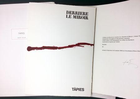 Иллюстрированная Книга Tapies - DERRIÈRE LE MIROIR n° 180 . TÀPIES . 1969. TIRAGE DE LUXE SIGNÉ.
