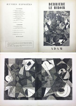 Гравюра Adam - Derrière le Miroir n° 24. ADAM .1949. Gravure originale.