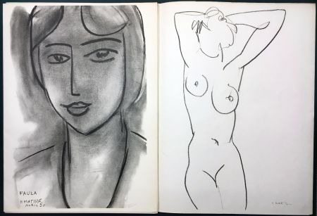 Иллюстрированная Книга Matisse - Derrière le Miroir n° 46-47. MATISSE. Mai 1952. 1ère Édition.