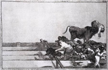 Офорт Goya - Desgracias