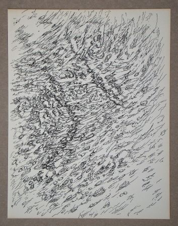 Литография Michaux - Dessin, 1955