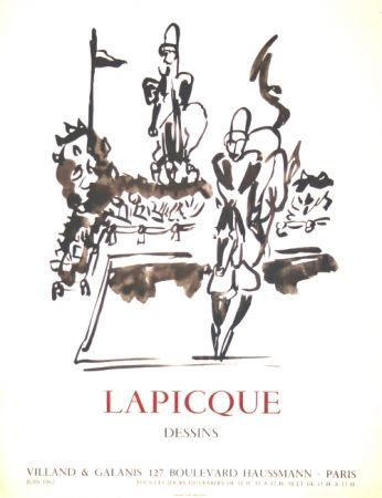 Литография Lapicque - Dessins  Exposition Villand Galanis Paris