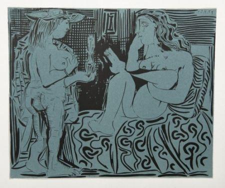 Гравюра Picasso - Deus femmes